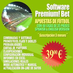 Software de apuestas simples y combinadas manejando decenas de ligas de fútbol