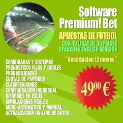 Software Premium! Bet (apuestas de fútbol)